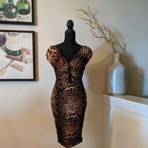 Body Hugging Leopard Dress